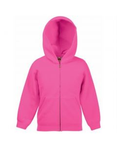 Fruit of the Loom Classic 80/20 kids hooded sweatshirt jacket
