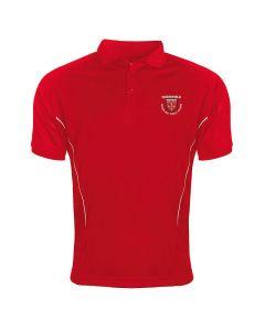 Northfield College Girls PE Red/White Polo w/Logo
