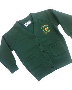 St Patricks Girls Sweat Cardigan w/Logo