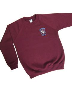 Crooksbarn Maroon Crew Neck Sweatshirt w/Logo