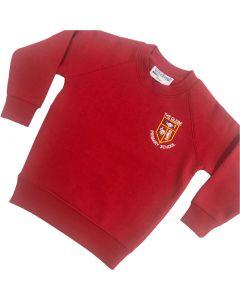 Glebe Red Crew Neck Sweatshirt w/Logo