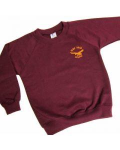 Vane Road Primary Claret Crew Neck Sweatshirt w/Logo