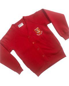 Glebe Red Cardigan w/Logo