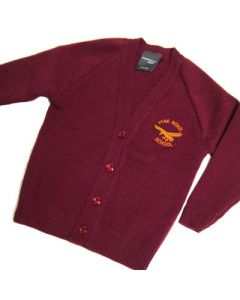 Vane Road Primary Girls Maroon Knitted Cardigan w/Logo