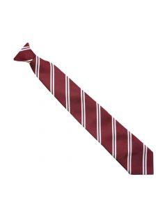 Northfield Mrn/Wht School Clip-on Tie