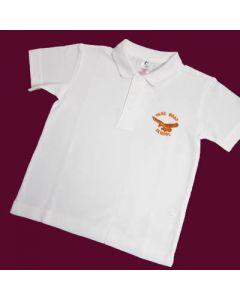 Vane Road Primary White Polo Shirt w/Logo
