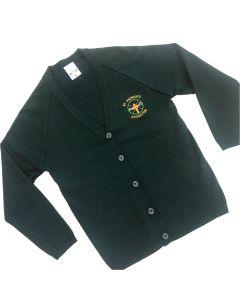 St Patricks Knitted Cardigan w/Logo