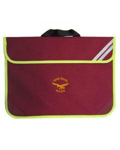 Vane Road Primary Maroon Bookbag w/Logo
