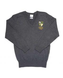 Sedgefield Boys Grey Cotton V-Neck Pullover w/Logo