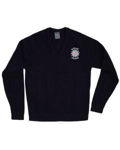 Acklam Grange Navy V-Neck Pullover w/Logo (Yr11)