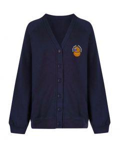 Aycliffe Girls Navy Cardigan w/Logo