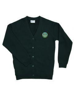 Hardwick Green Sweat Cardigan w/Logo