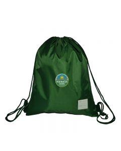 Hardwick Green Gymsack w/Logo