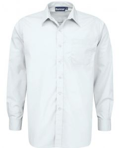 Blue Max Boys Long Sleeve Twin Pack Shirts (White)