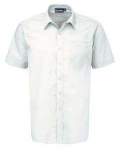 Blue Max Boys Short Sleeve Twin Pack Shirts (White)