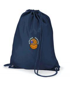 Aycliffe Navy Gym Bag w/Logo (Optional)