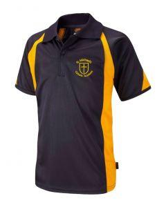 St Michael's Navy/Gold P.E Polo Shirt w/Logo
