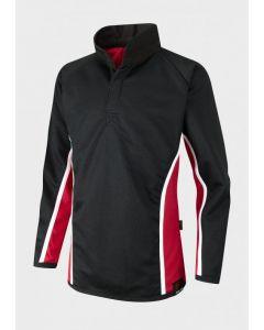 Egglescliffe School Unisex Rugby Shirt - Black/Scarlet