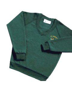 St Patricks V-Neck Sweatshirt w/Logo