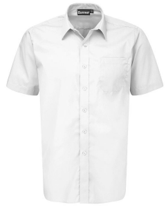 Boys Short Sleeved Shirts -Twin Pack – White