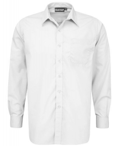 Boys Long Sleeved Shirts -Twin Pack – White