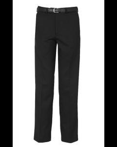 Flat Front Black School Trousers w/Belt