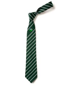 Greenfield Green/White School Tie (Years 7-10)
