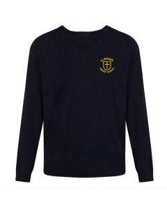 St Michael's Boys Navy V-Neck Pullover w/Logo