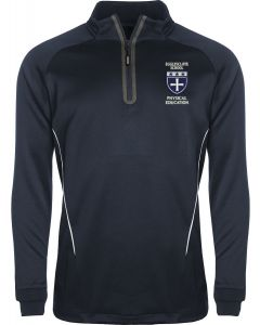 Egglescliffe School Unisex PE 1/4 Zip Top - Navy/White