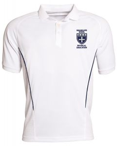 Egglescliffe School PE Polo Shirt - White/Navy