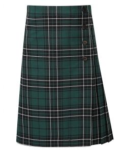 Polam Hall Girls Kilt - Green Tartan