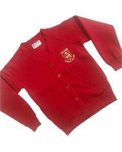 Glebe Red Cardigan w/Logo