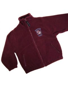 Crooksbarn Maroon Fleece w/Logo (Optional)