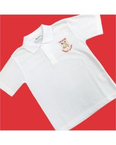 Glebe White Polo Shirt w/Logo