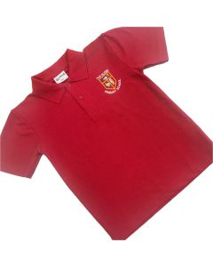 Glebe Red Polo Shirt w/Logo