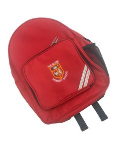 Glebe Red School Backpack w/Logo