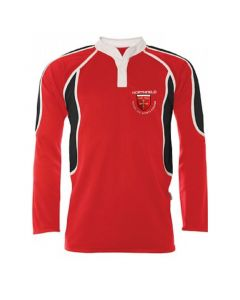 Northfield College Boys Red/White Reversible Rugby Jersey w/Logo
