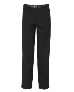 Flat Front Black School Trousers w/Belt