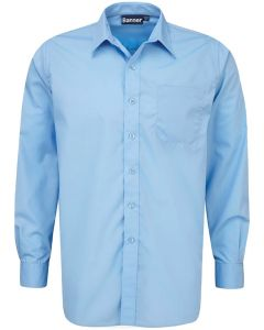 Boys Long Sleeved Shirts -Twin Pack – Blue