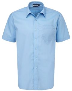 Boys Short Sleeved Shirts -Twin Pack – Blue